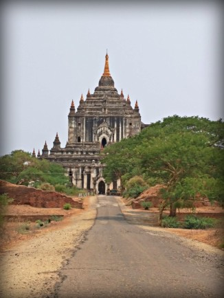 Built in 1144, the Thatbyinnyu Temple is the tallest of the Bagan monuments at 61 meters (200 feet) high.