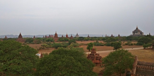 Just after sunrise from the Shwesandaw Pagoda
