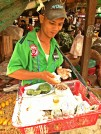 A vendor selling betel nut, similar to chewing tobacco